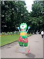 TQ3080 : Mandeville, paralympic mascot, Victoria embankment gardens by Paul Gillett
