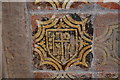 SO7745 : Instruments of the Passion tile, Great Malvern Priory by Julian P Guffogg