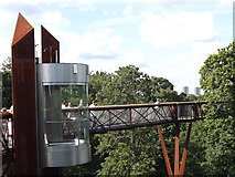 TQ1876 : Lift at Xstrata Treetop Walkway, Kew Gardens by Colin Smith