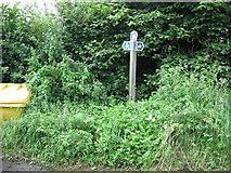 ST6759 : Bridleway sign on Parkway Lane by James Ayres