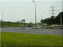 SJ7993 : End of the slip road off the M60 at its junction with the A56 by Alexander P Kapp