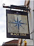 SO8171 : Black Star (3) - sign, 1 Mitton Street, Stourport-on-Severn by P L Chadwick