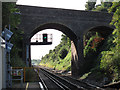 TQ6074 : Swanscombe station, looking west by Stephen Craven