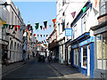 TQ8209 : Hastings High Street with bunting by Stephen Craven