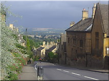 SP1732 : View across The Cotswolds from Bourton on the Hill by David Howard