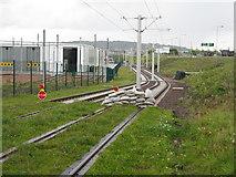 NT1772 : Edinburgh Tram practice track by M J Richardson