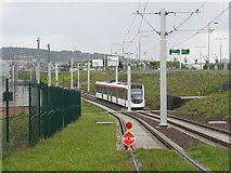 NT1772 : Edinburgh tram at Gogar by M J Richardson