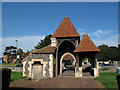 TQ2965 : Entrance gate to Beddington churchyard extension by Stephen Craven