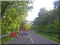 NN2286 : Broadleaf riparian woodland of the River Gloy by C Michael Hogan