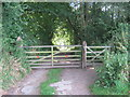 NZ2920 : Gated entrance to Nelson's Lane from Brafferton by peter robinson