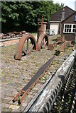 SJ6903 : Blists Hill Victorian Town - machinery parts by Chris Allen