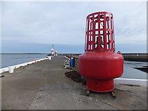 SC2667 : Buoy on quay at Breakwater Head by Richard Hoare