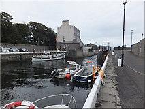 SC2667 : Open swingbridge Castletown Harbour by Richard Hoare