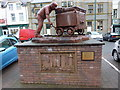 SD1780 : Statue of the Hodbarrow Miner, Market Square, Millom by Alexander P Kapp