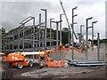 SO1107 : Construction of a medical centre, Rhymney (1) by Robin Drayton