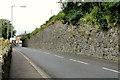 J1953 : Old railway wall, Dromore by Albert Bridge
