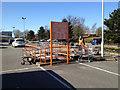 SP3877 : Trolley park, B & Q car park, Binley by Robin Stott