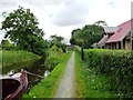 SJ3024 : Montgomery Canal, towpath, Canal Central Cafe by SMJ