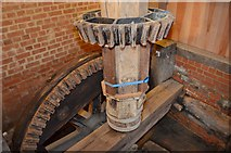 TM0819 : Thorrington Tide Mill - Pit wheel and wallower by Ashley Dace