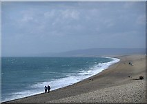 SY6873 : The sweep of Chesil Beach, seen from its Portland end by Stefan Czapski