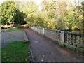 SO7226 : Balustrade bridge, Newent Lake by Jaggery