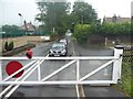SK2762 : Level crossing on Station Road [B5057] by Christine Johnstone