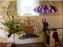 TR0149 : Olympic theme for the flower festival at the church of St Cosmas and St Damian, Challock by Marathon