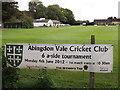 SU4996 : Abingdon Vale Cricket Club by Colin Smith
