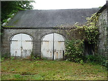 SH7400 : Old coach house doors at Y Plas, Machynlleth by Jeremy Bolwell