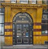 SY6874 : Entrance to the Portland Roads Hotel & Freehouse, Castletown, Portland by Stefan Czapski