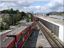 TQ4380 : DLR line to London City Airport by David Anstiss
