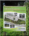 SX9372 : Information board, Homeyards Botanical Garden by Robin Stott