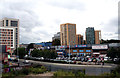 TQ3875 : View from Platform 1, Lewisham station by Dr Neil Clifton