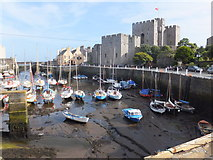 SC2667 : Castletown harbour at low tide by Richard Hoare