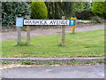 TM3978 : Warwick Avenue sign by Adrian Cable