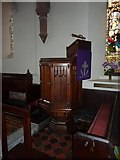 SD0799 : St Peter's Church, Drigg, Pulpit by Alexander P Kapp