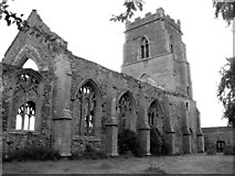 TF6013 : The ruined church of St Peter, Wiggenhall by Evelyn Simak