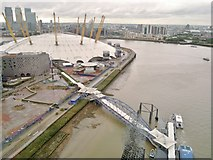 TQ3980 : O2 Arena from Emirates Air Line cable car by Chris Morgan