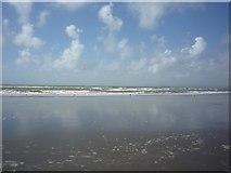 SH5630 : Sea on Harlech Beach by DS Pugh
