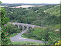 SY9582 : Road junction and viaduct, Corfe Castle by Malc McDonald