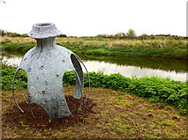 SK1814 : Art on the bank of the River Tame by Andrew Abbott