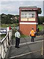 SD8022 : Rawtenstall West signal box by Stephen Craven