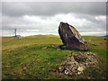 SD5682 : Standing stone, Scout Hill (2) by Karl and Ali
