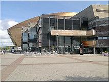 ST1974 : Plass Roald Dahl, Wales Millennium Centre by David Dixon