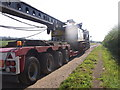SO9846 : Pile driver being delivered by Liz Stone