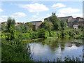SK7953 : Parnham's Mill dam  by Alan Murray-Rust