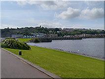 ST1972 : Wales Coast Path, Cardiff Bay Barrage by David Dixon