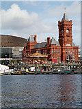 ST1974 : Cardiff Bay, Pierhead Building by David Dixon
