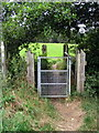 SP9732 : Gate and footbridge on the Greensand Ridge Walk by Philip Jeffrey