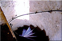 R4560 : Bunratty Folk Park - Site #4 - Castle - Typical Tower Staircase by Suzanne Mischyshyn